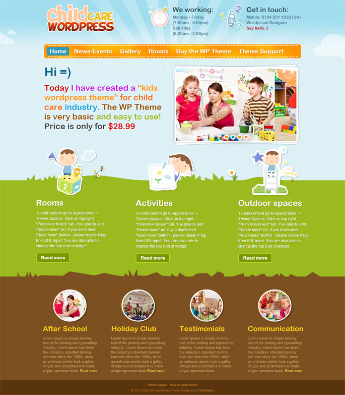 10 Awesome Wordpress Themes for Child Care Industry | Webdesigner Lab